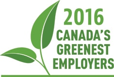 HP Canada named one of Canada's Greenest Employers in 2016 for the 9th year in a row and the only PC company on the list