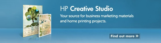 HP Creative Studio - Your source for business marketing materials and home printing projects. Find out more.