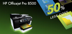 HP Officejet Pro 8500 - Up to 50% less cost per page than laser.