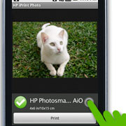 Tap Print to print your photo or tap the dropdown icon for printer settings a