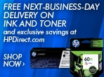 Free Next-Business-Day Delivery on Ink and Toner and exclusive savings at HPDirect.com.  Shop now.