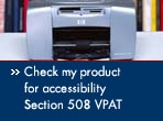 check my product for accessibility, section 508 VPAT
