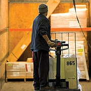 Image of a man working in a warehouse