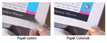 Papel común vs Papel con Colorlok