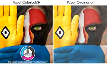 Papel ColorLok&reg / Papel Ordinario