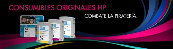 Consumibles originales HP. Combate la piratería.