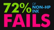 72% OF NON-HP INK FAILS
