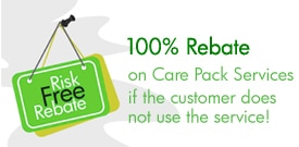 Risk Free HP Care Pack rebate