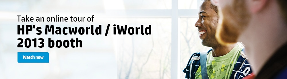 Take an online tour of HP's Macworld/iWorld 2013 booth. Watch now