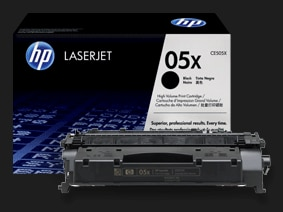 Original HP LaserJet high-capacity printer toner cartridges