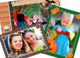 Halloween photo frames from HP Creative Studio