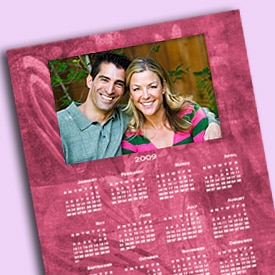 Valentine-themed calendar