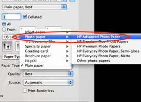 Print quality setting preferences