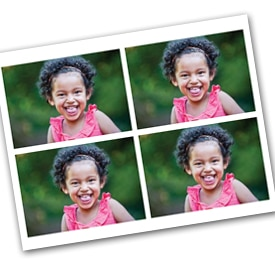 Four 3.5 x 5 photos on one sheet of 8.5 x 11 photo paper