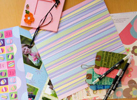 scrapbook pages and supplies