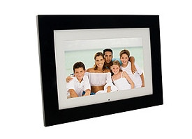 Digital picture frame a remote control.