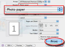 Photo paper circled in HP Scan