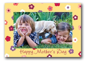 Photo of children with a Mother's Day-themed border