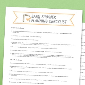 Planning a baby shower best baby decoration baby shower to for Baby shower decoration checklist
