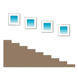 Picture of possible stairway photo wall arrangement