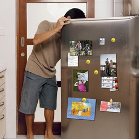 Picture of refrigerator photo display