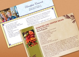 Picture of HP photo recipe cards