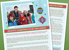Picture of family newsletter