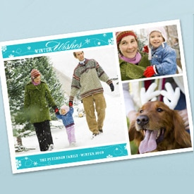Winter Wishes 5 x 7 Holiday Card