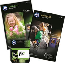 HP photo paper and HP ink