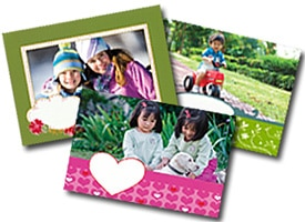 Variety of photo greeting cards