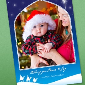 Picture of home-printed HP holiday photo card