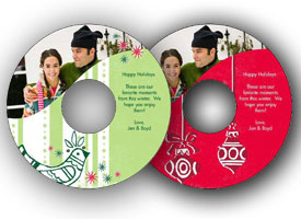 Picture of holiday-themed photo DVDs