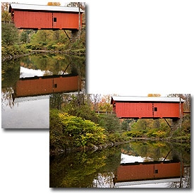Covered bridge, vertical and horizontal