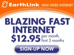 Blazing fast internet with Earthlink