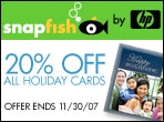 20% off all holiday cards - Snapfish by HP