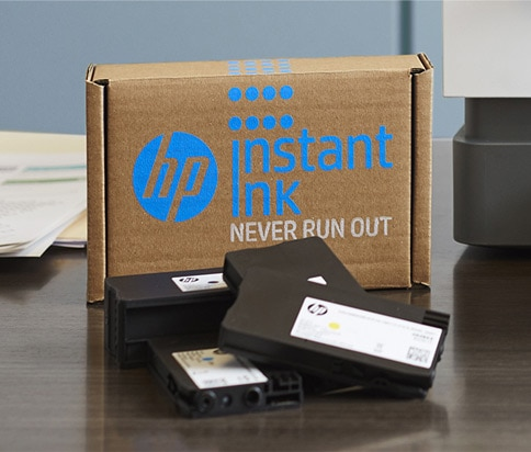 HP Instant Ink Box und Ink
