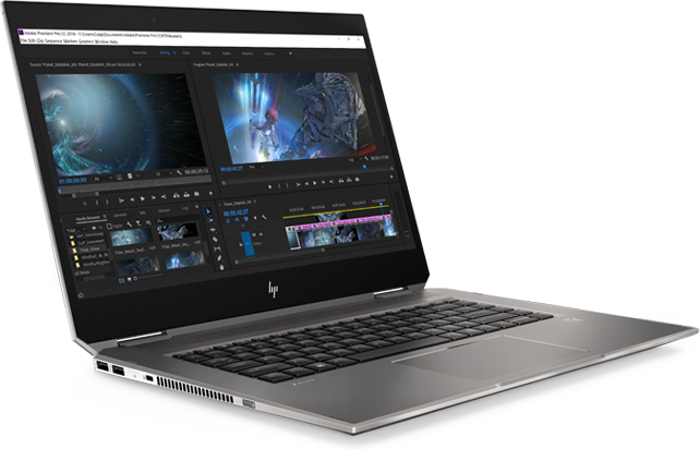 HP Zbook Studio x360 angle right