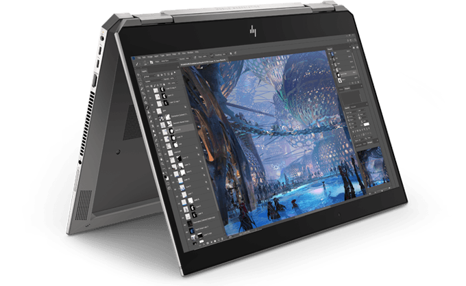 HP Zbook Studio x360 tent