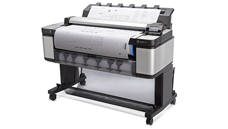 Side view if the HP DesignJet T3500 Production Multifunction Printer