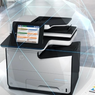 hp secure print security for business