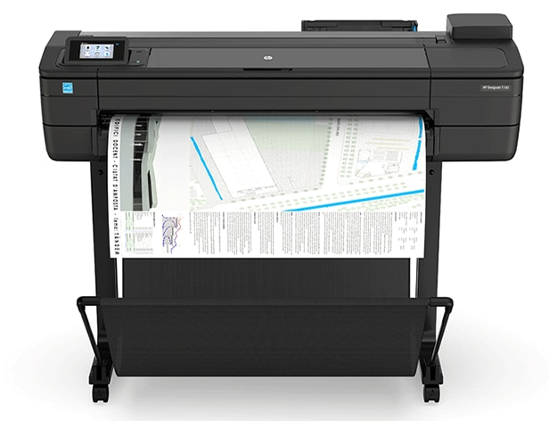 HP DesignJet T730 Printer with maps output