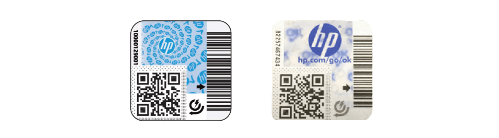 HP Long Life Consumables security labels