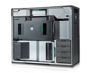 HP Z820 Workstatoin side open