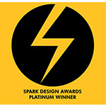 Spark design awards platinum winner 2019