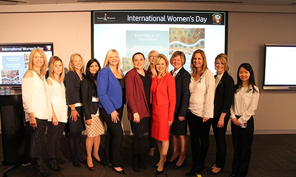 HP employees and NWRCT members celebrate International Women's Day