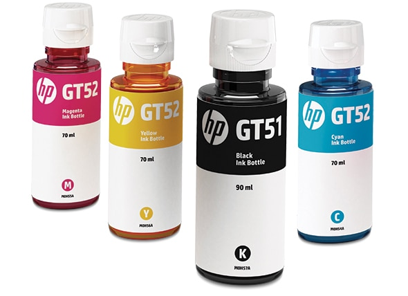 Original HP ink bottles