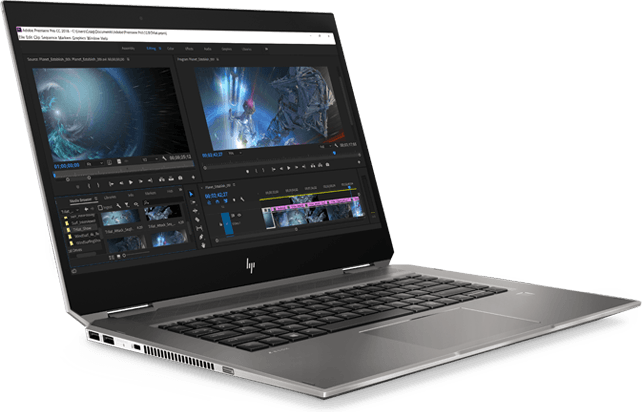 HP Zbook Studio x360 右侧角视图