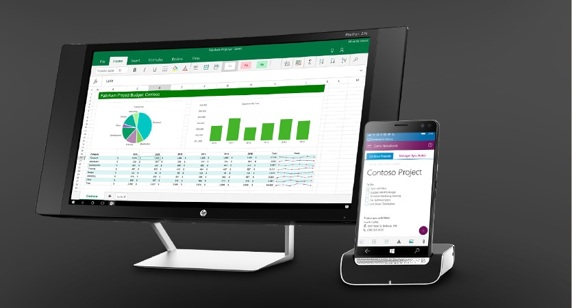 HP Elite x3 - dock to a larger display