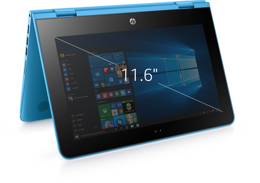 Laptop convertible de 11 pulgadas HP x360