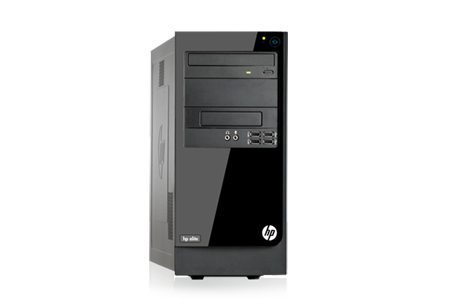 HP Elite 7300 Microtower - Side view